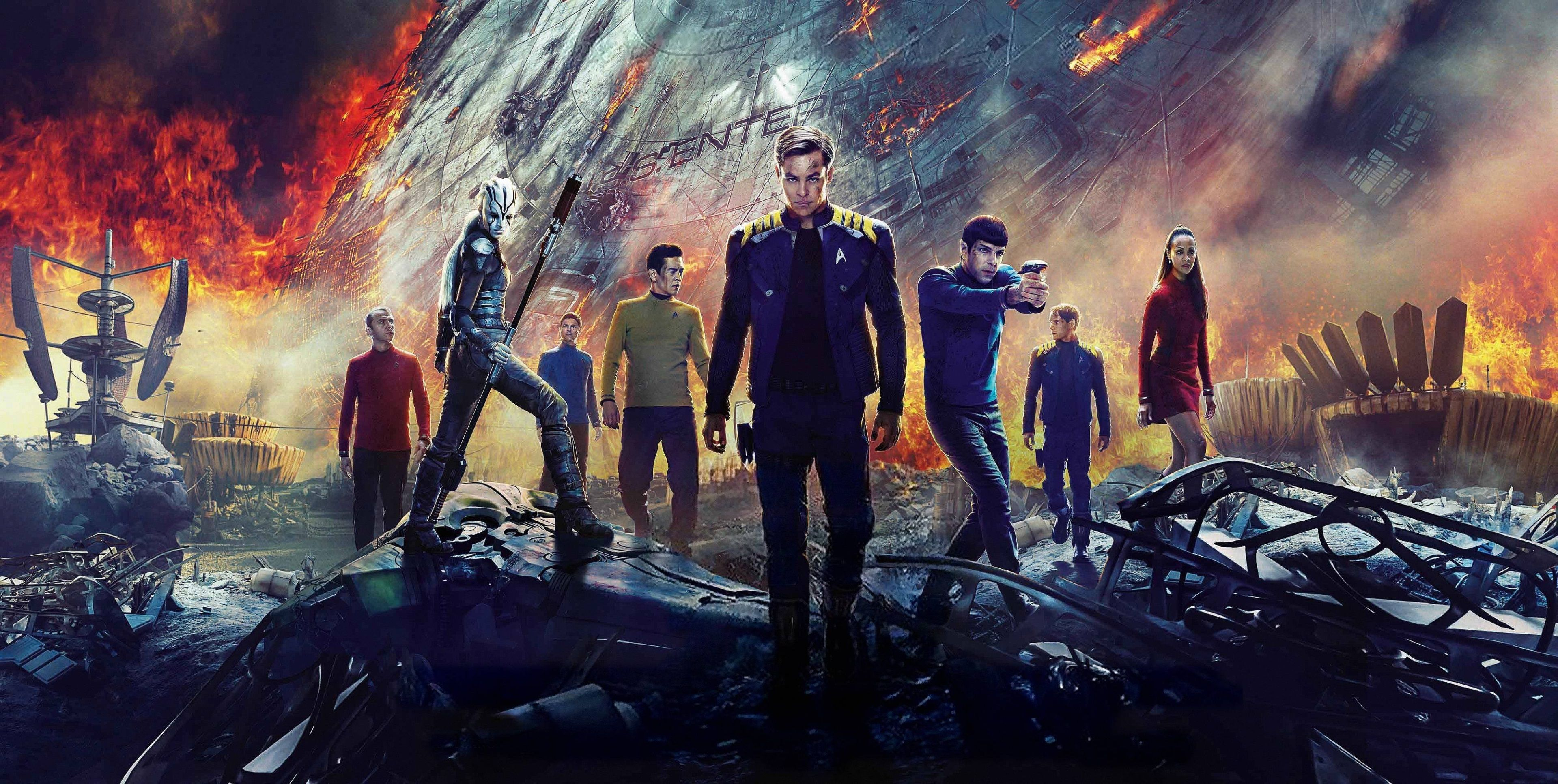 3840x1934 Star Trek Beyond 4k Wallpaper Background Desktop Computer Star Trek Star Trek Beyond Wallpaper