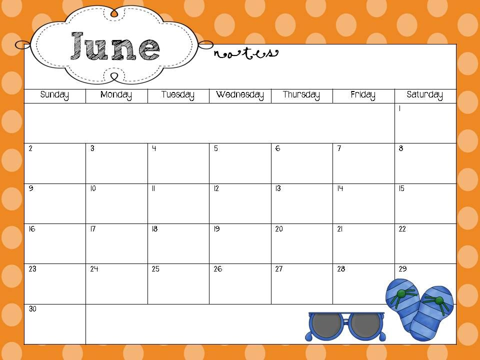 Schedule Cute Monthly Calendar Template Microsoft Word With