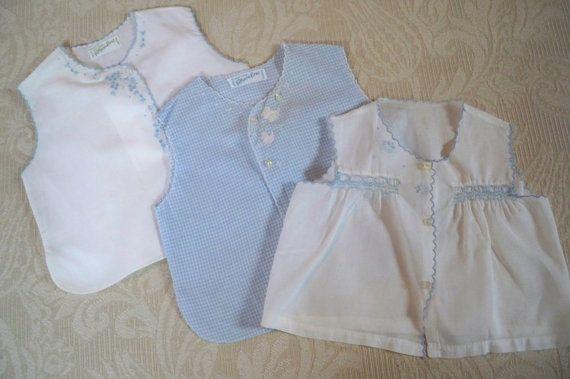 71097098 Vintage Set of Three Infant Diaper Shirts Feltman Brothers | Sweet ...