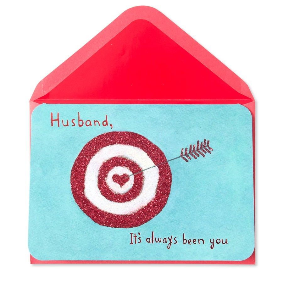 Its Always Been You Heart Target Valentine Card For Husband – Papyrus Valentine Cards
