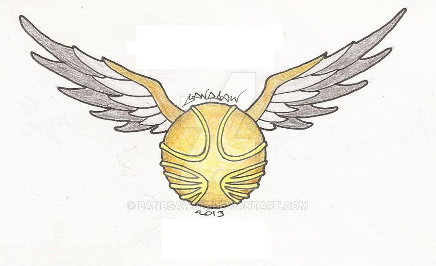 The Golden Snitch By Bandsaw013 Harry Potter Drawings Harry