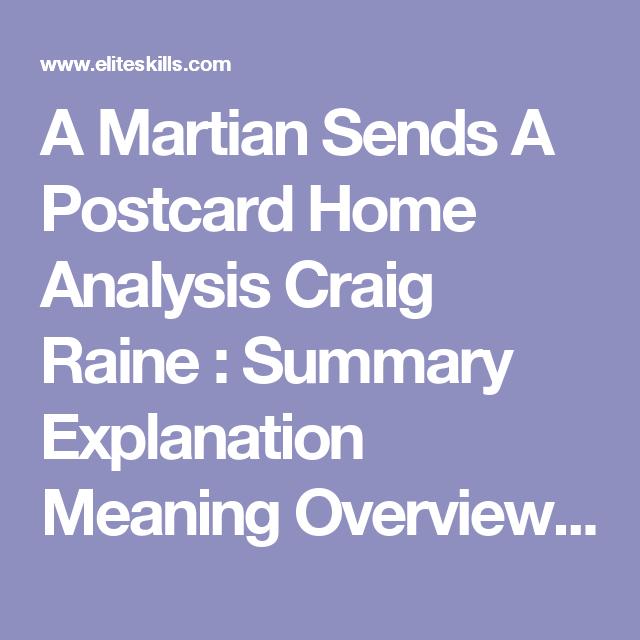 craig raine a martian sends a postcard home