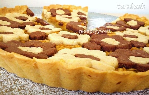 Okrúhly jablkový koláč (fotorecept)