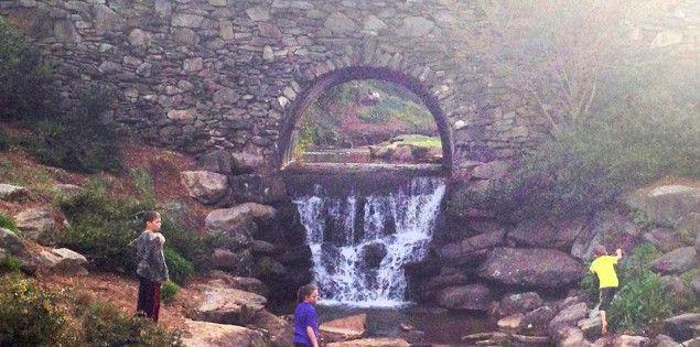 Falls Park stone bridge