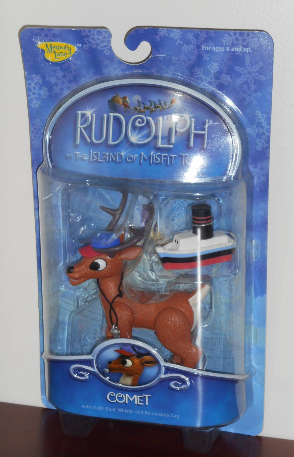 Rudolph The Red Nosed Reindeer Coach Comet Cap and Whistle Action Figure