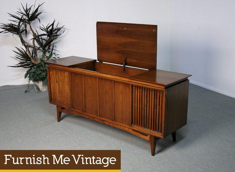 Mid Century Modern retro 1950s/1960s era Sears Silvertone record ...