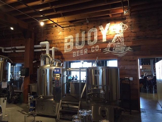 Our friends at buoy beer co in astoria oregon in their for Craft kettle brewing equipment