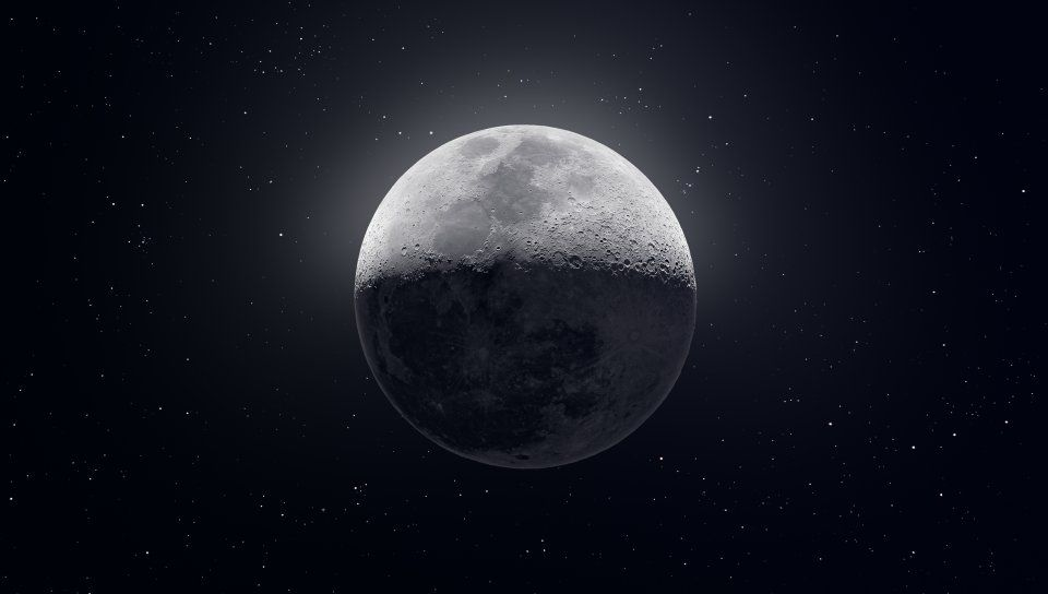Moon, glow, space, art Wallpaper in 2019 Photography