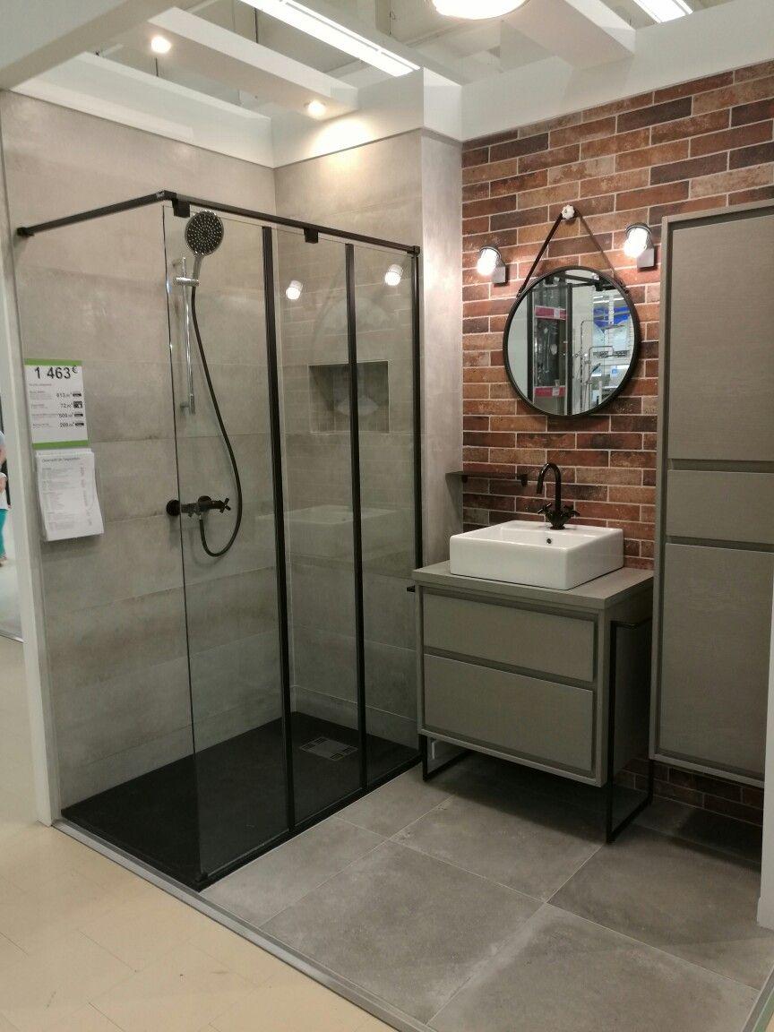 Sdb industrielle Leroy Merlin  Idée salle de bain, Salle de bain