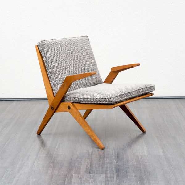 50er Jahre Armlehnsessel / Easy Chair | Vintage sessel, 50er jahre ...