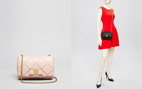 1271936a7e66 Salvatore Ferragamo Mini Bag - Soft Quilted Miss Vara Bow