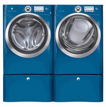 electrolux blue front load washer dryer set