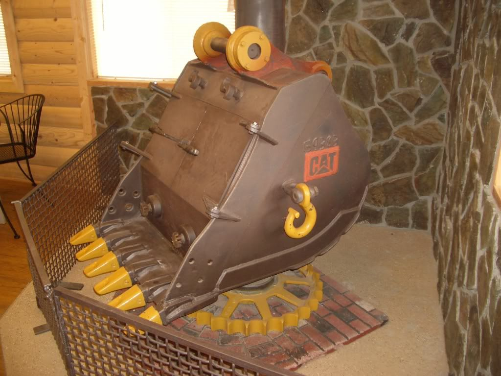 Here's a stove made from an old excavator bucket, it's somewhere in Oregon,  ... - Here's A Stove Made From An Old Excavator Bucket, It's Somewhere