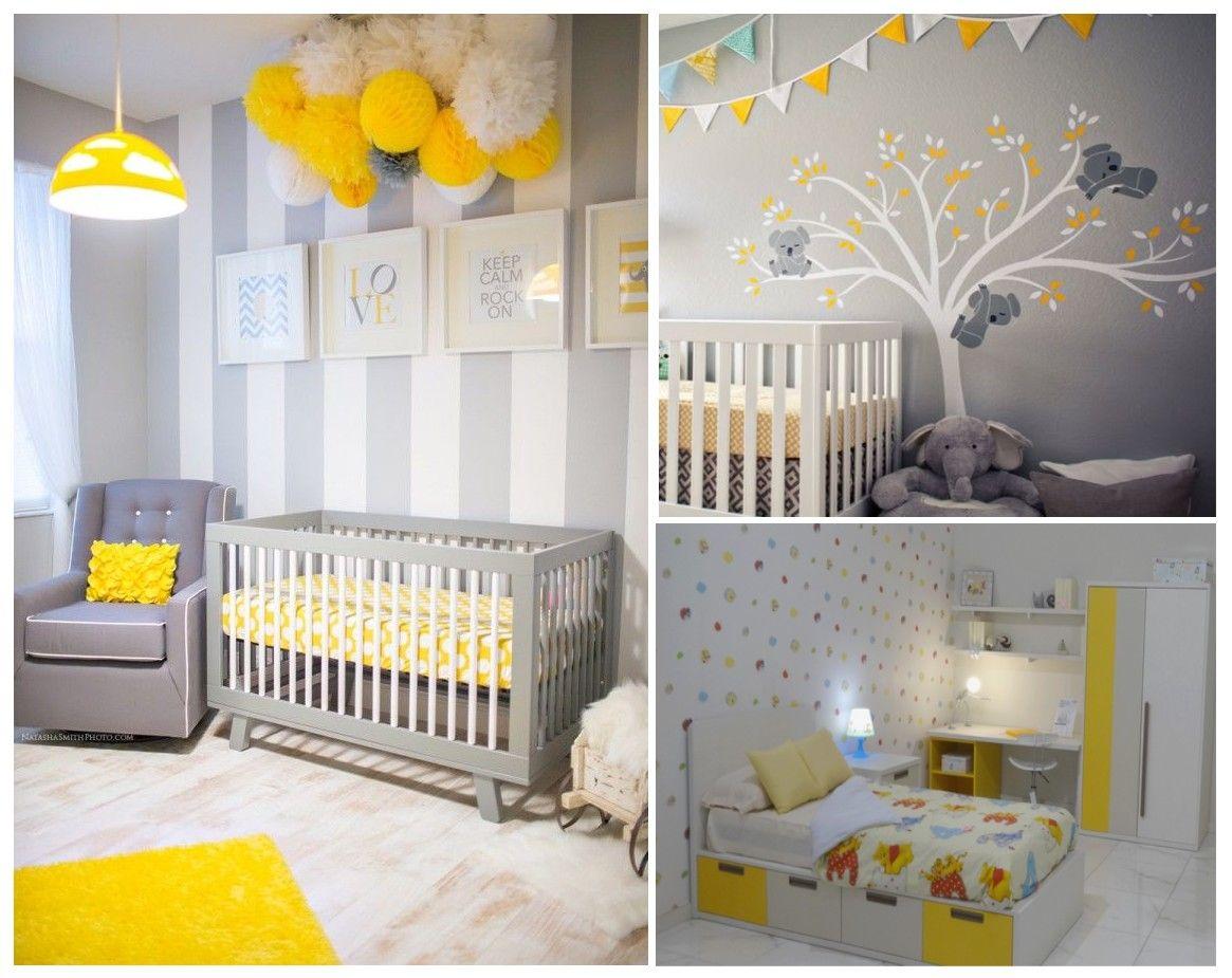 Habitaciones infantiles gris amarillo dormitorio - Habitaciones para nino ...