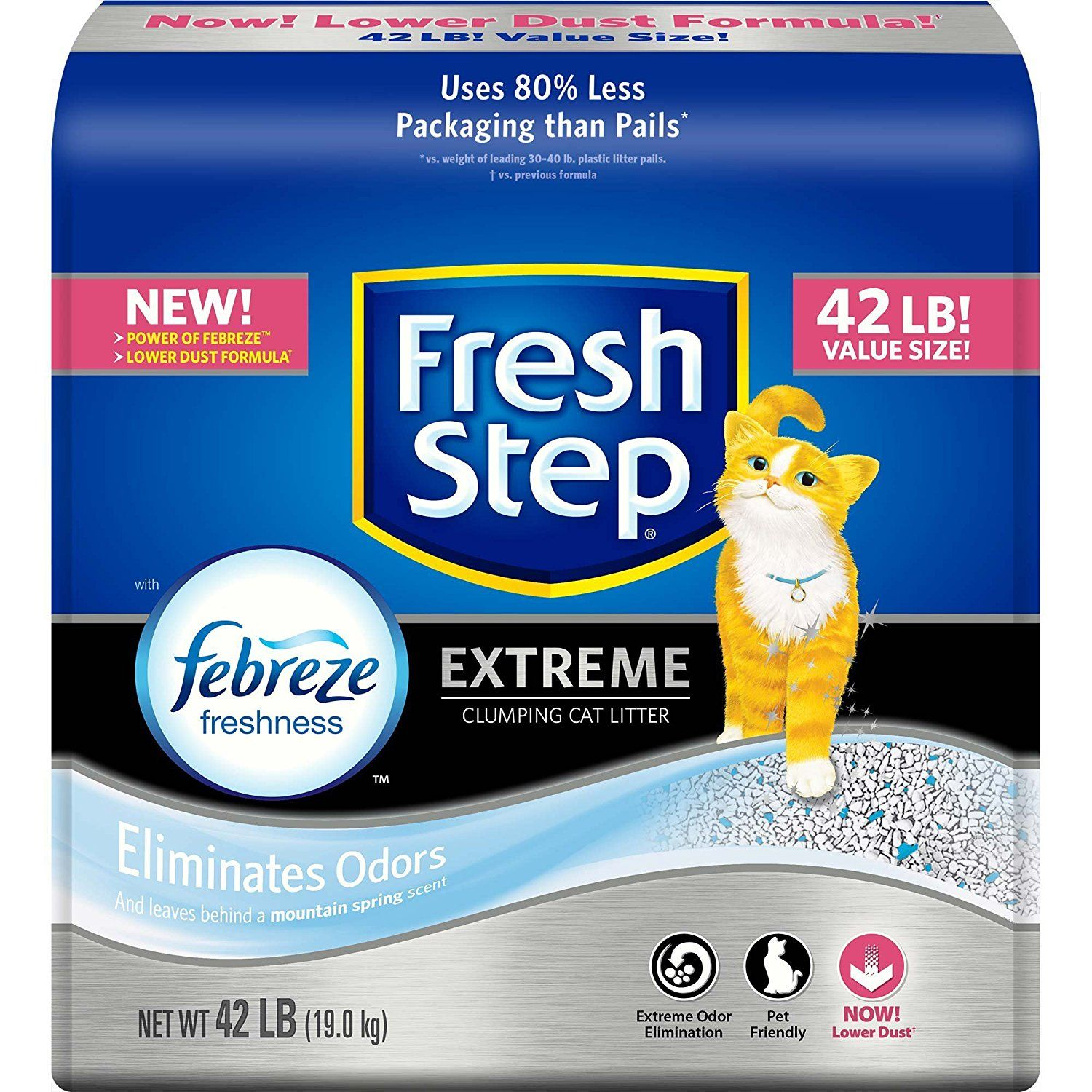 Fresh Step Extreme Clumping Cat Litter, 42 lb. Carton