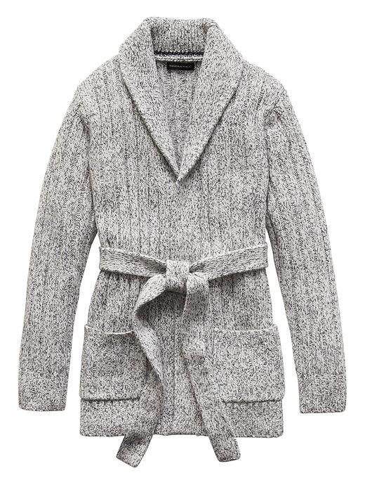 912ea218c138 Banana Republic Mens Japan Online Exclusive Shawl-Collar Cardigan Sweater  White