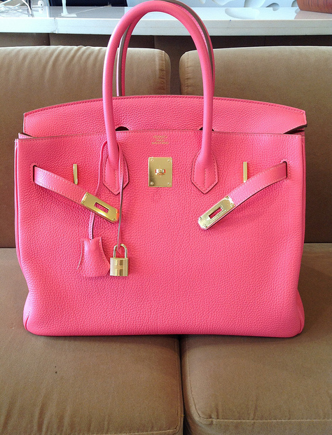 858972c31bd7 My very first Birkin reveal!! - PurseForum Not mine, sadly. But a TPFers  GORGEOUS pink lipstick Birkin with gold hardware.