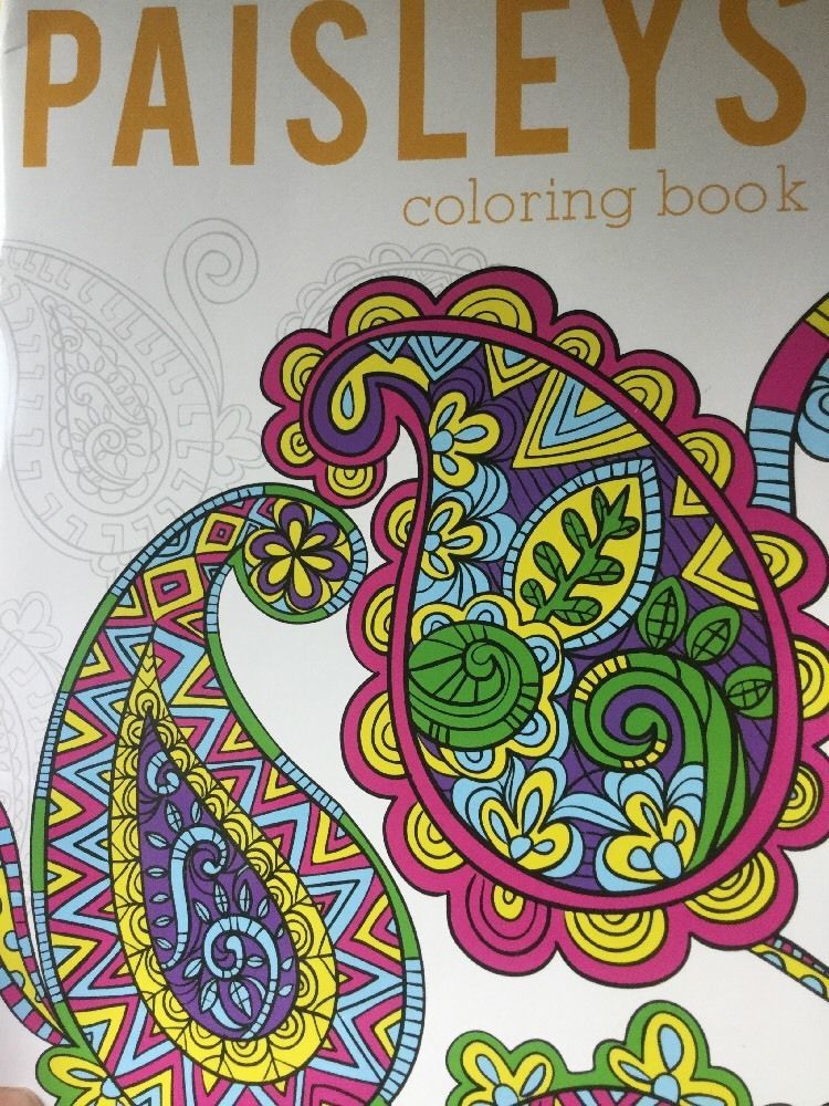 Simple Create Coloring Book 42 Adult Coloring Book Paisleys