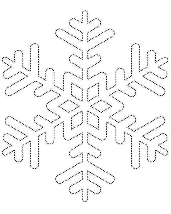 Kar Taneleri Boyama Sayfasi Ve Cizgi Calismasi Kar Taneleri 3d