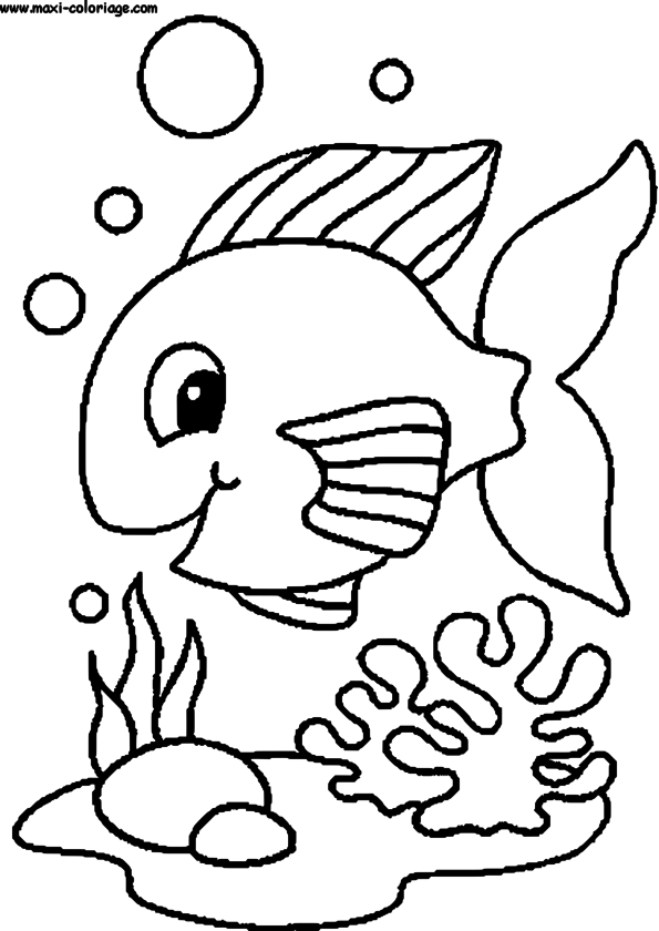 Pescados Pintar Fish Coloring Page Preschool Coloring Pages Y