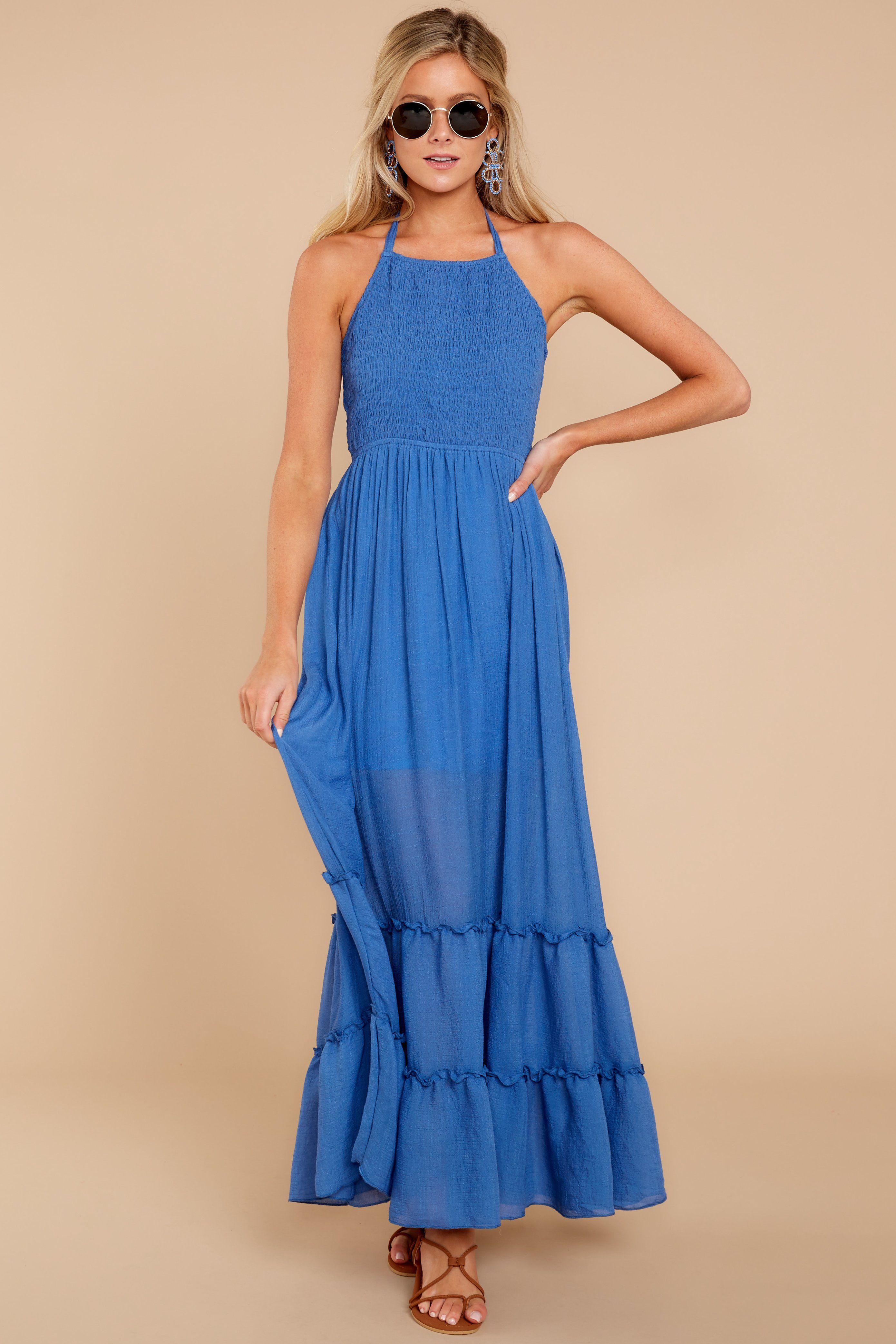 Blue maxi dress casual maxi dress dress 4400 red