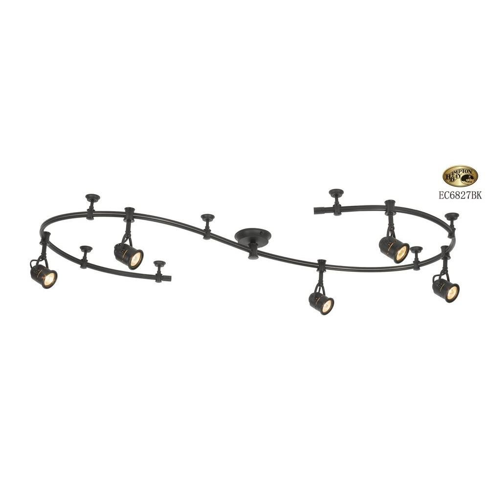 beautiful home depot track lighting lighting. 5-Light Black Flexible Track Lighting Starter Kit Beautiful Home Depot S