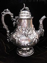 Coin Silver Water: Coffee: Pitchers by Canfield