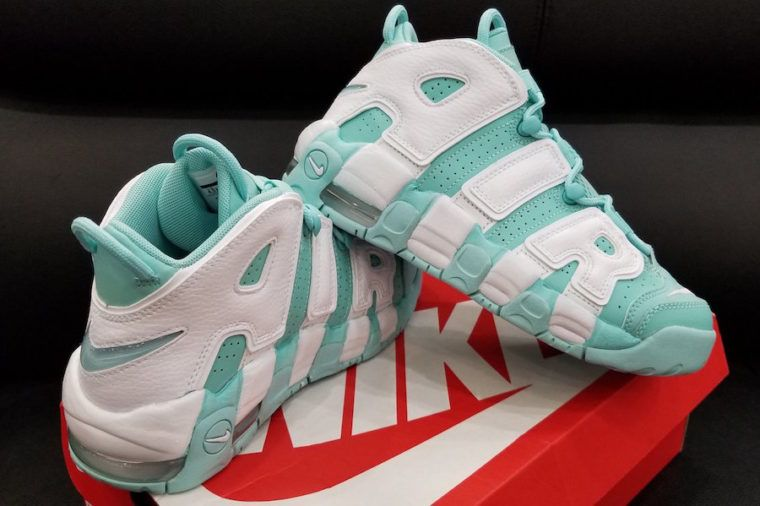 new arrival b2a20 1c1b6 Nike Air More Uptempo GS Island Green