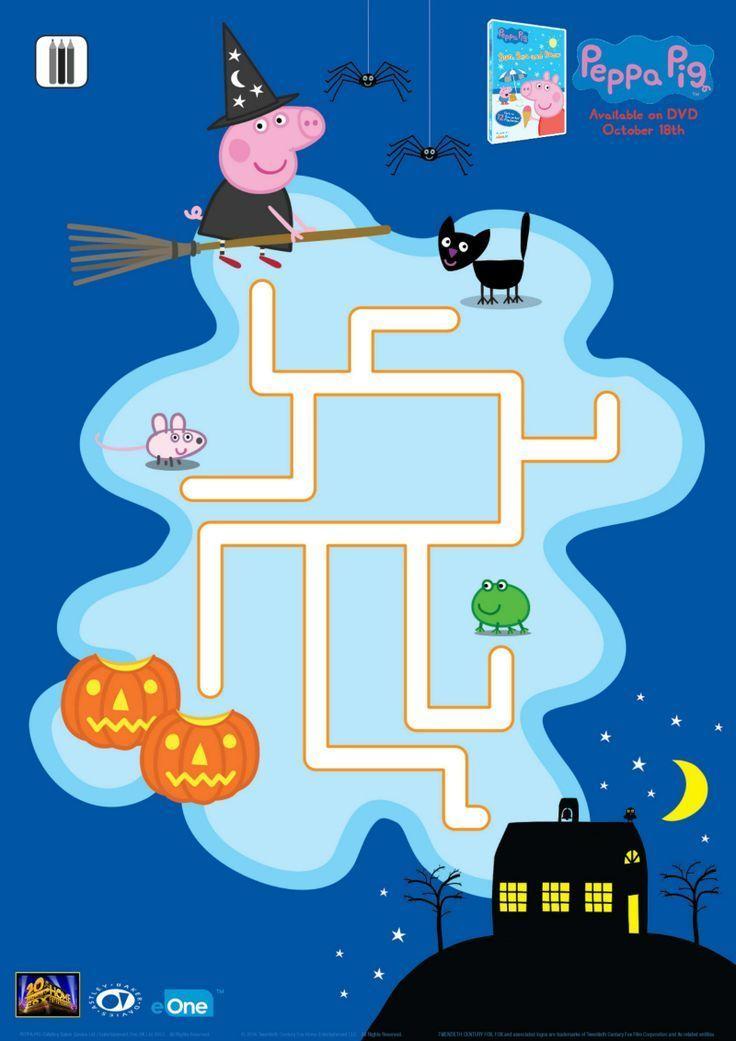 Free Printable Peppa Pig Halloween Maze Halloween maze
