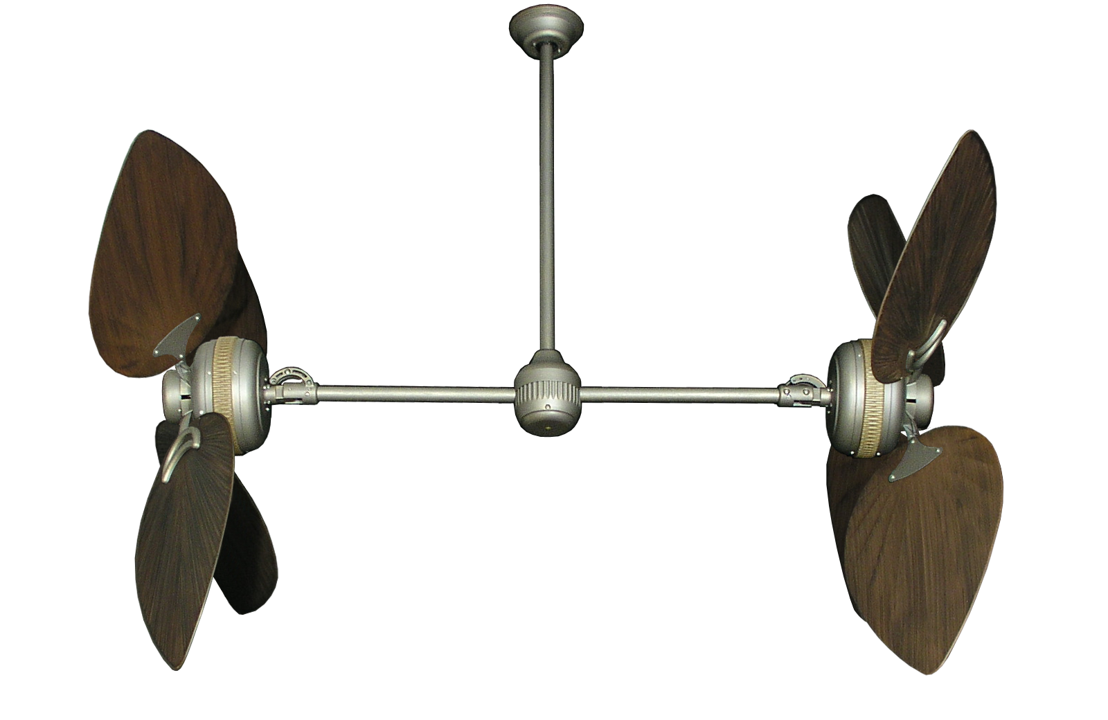 Twin Star Ii Antique Bronze Outdoor Dual Ceiling Fan With