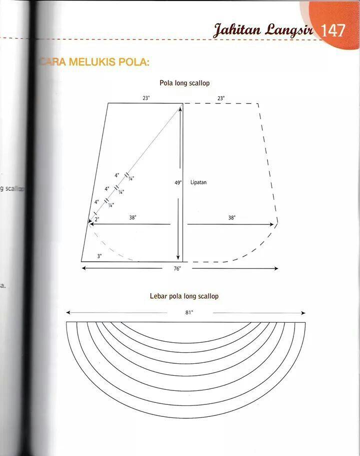 Pola long scallop | langsir/curtain | Pinterest | Gardinen und Nähen