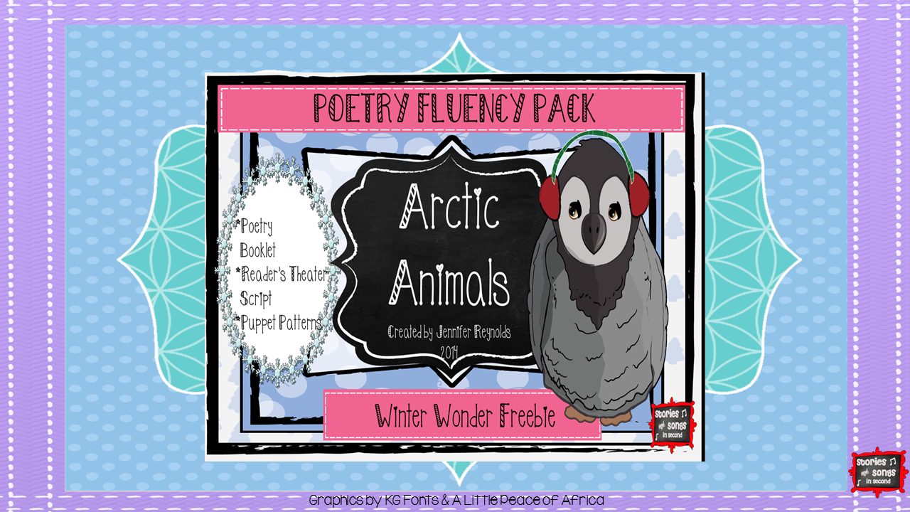 Three poems about penguins and polar bears are included in this FREE resource, and can be used for literacy stations, individual fluency notebooks, or whole group Reader's Theater activities!  Stick puppet patterns are also included!