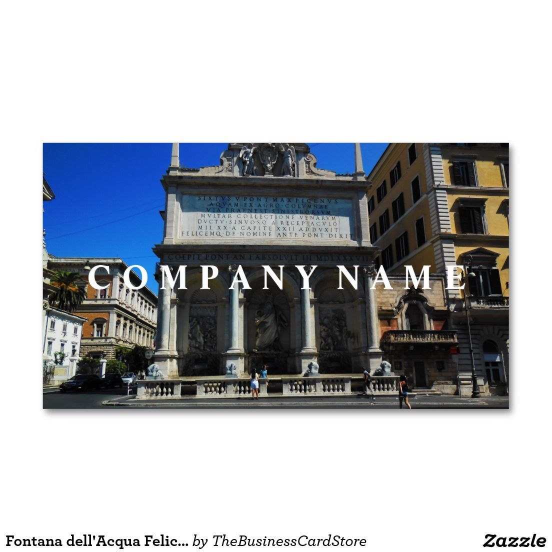 Fontana dell\'Acqua Felice Scene, Rome, Italy Business Card | ITALIAN ...