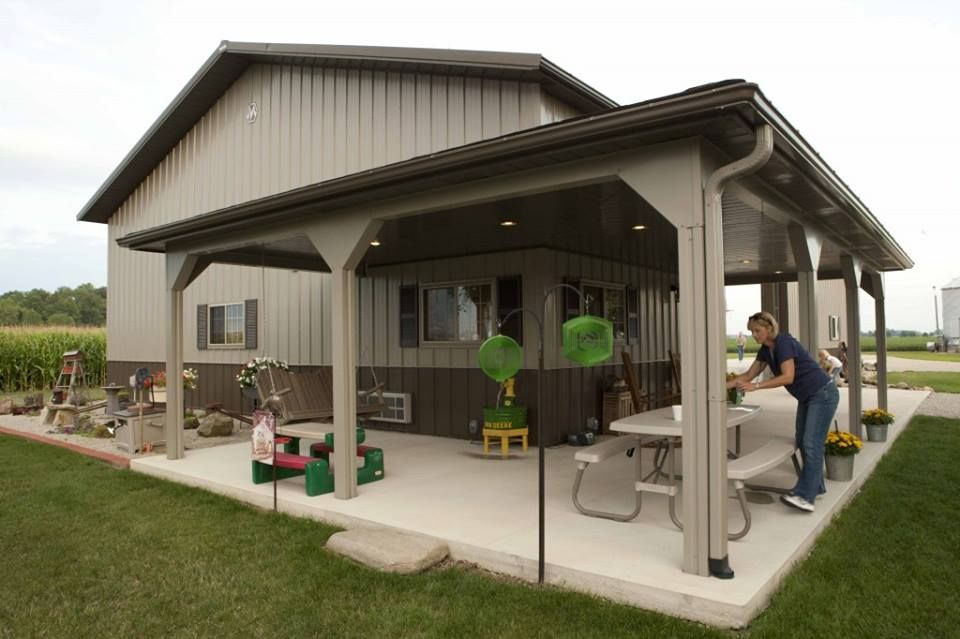 Morton building cabins share cabins pinterest for Metal shop house plans
