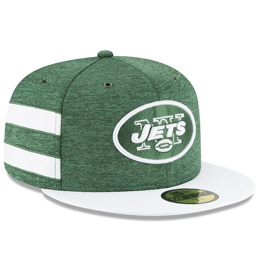 Men s New York Jets New Era Green White 2018 NFL Sideline Home Official  59FIFTY Fitted cb0a2bd0c