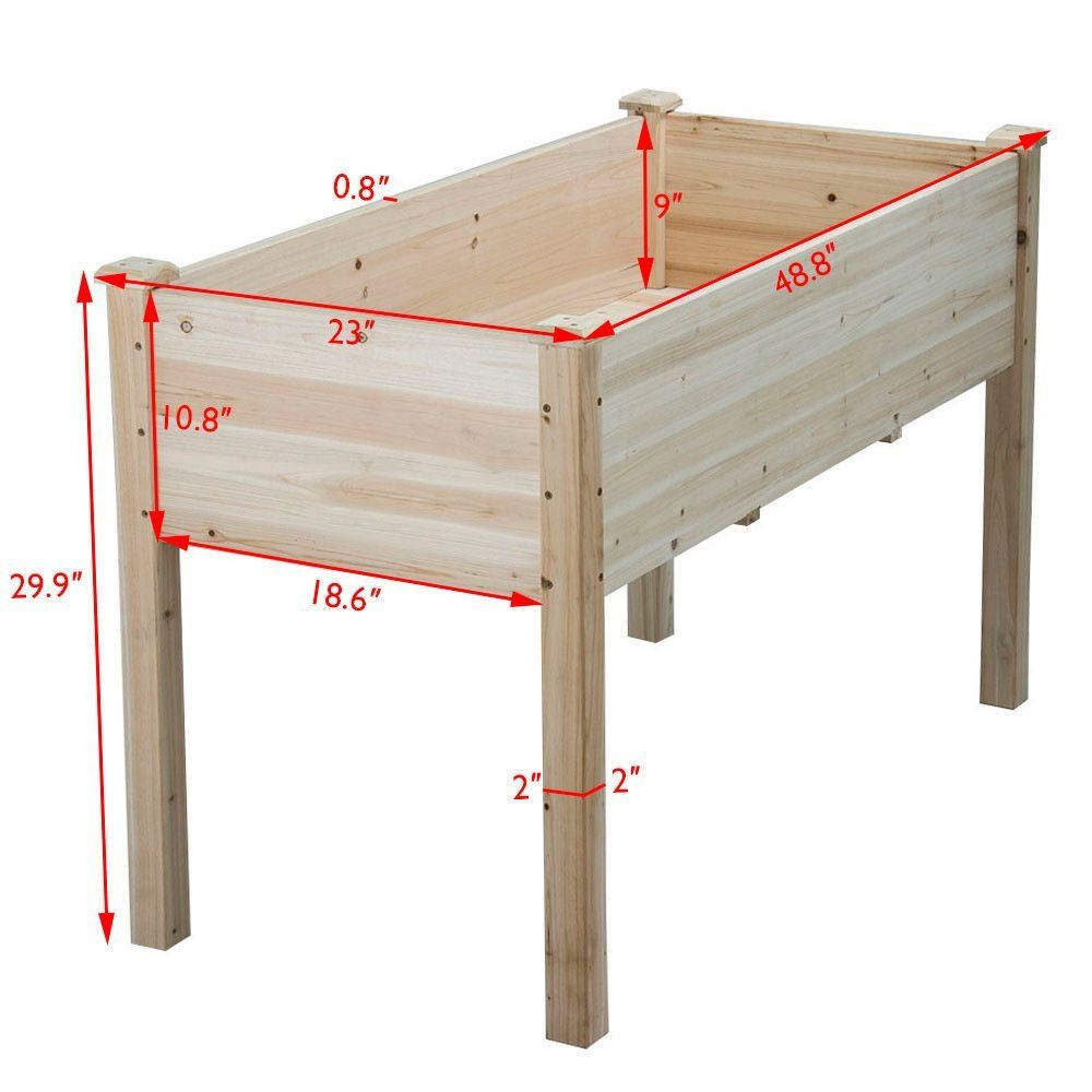 Cedar Raised Elevated Garden Bed Planter Box Kit Vegetables Corner Wooden 5 Type G W 1 In 2020 Raised Garden Beds Diy Building Raised Garden Beds Garden Boxes Raised