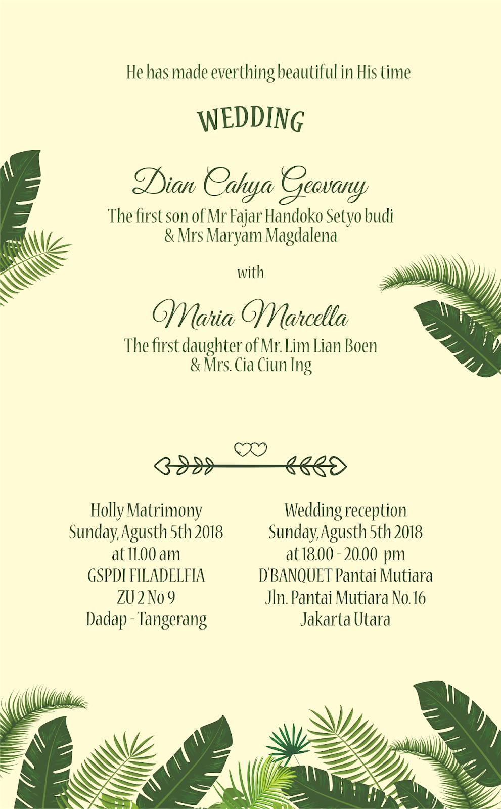 Wedding invitations - template undangan resume download ...