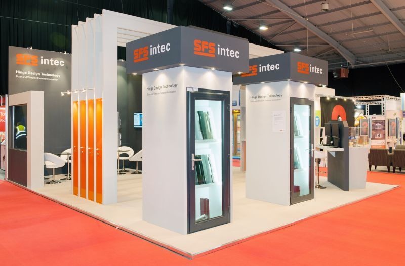 Simple Exhibition Stand Zone : Space only exhibition stands designers and builders