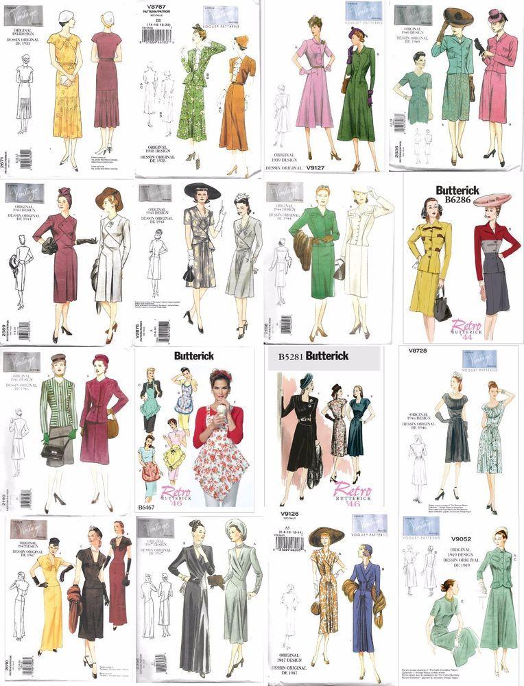 Vintage Adult Sewing Patterns