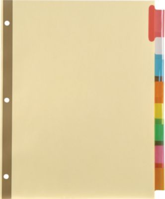 Staples Big Tab Insertable Paper Dividers 8 Tab Buff With Assorted Color Tabs 13487 11111 Staples Tab Design Tab Dividers Paper