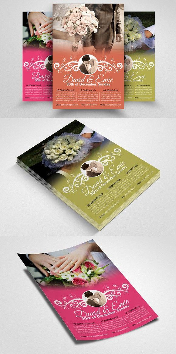 Wedding Invitation Flyer Template Wedding Card Templates