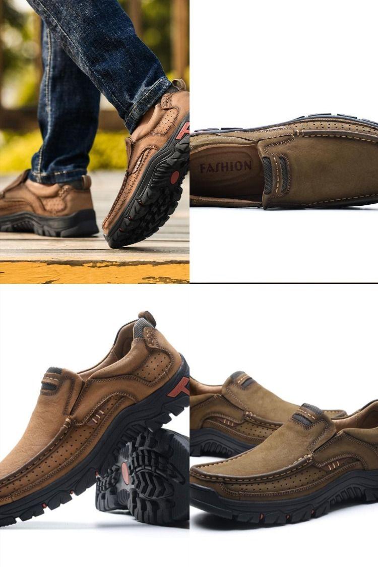 Zapatos Cómodos Casuales De Cuero Genuinos Para Hombre De Trabajo Oficina De Para Exteriores Zapatos Cómodos Zapatos Hombre Zapatos