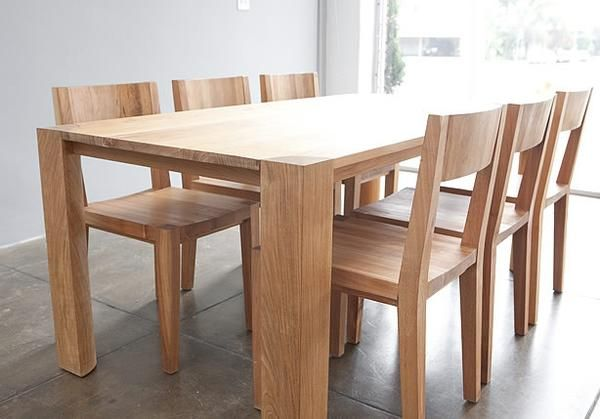 Bon The Beautifully Crafted Solid Teak Table Top And Chunky Quarter Round Legs  Of The PCHseries Dining Table Add Presence To Any Room While Creating A  Space To ...