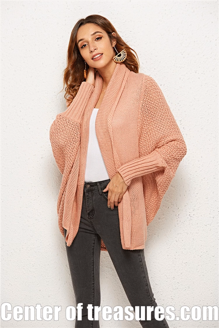 Photo of Strickjacke Damenpullover Batwing Long