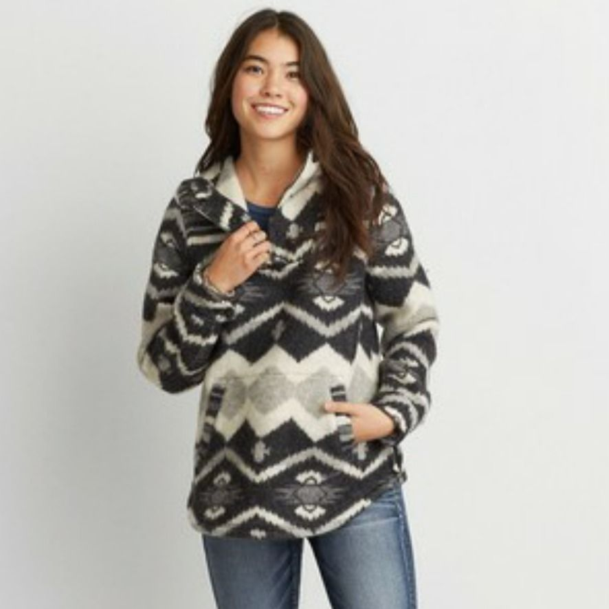 2de70638bff4 NEW WOOLRICH X AMERICAN EAGLE BLANKET POPOVER HOODED JACKET SIZE ...