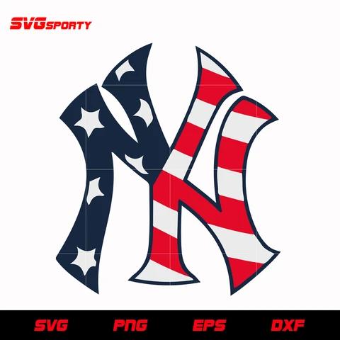 New York Yankees Logo Usa Flag Svg Mlb Svg Eps Dxf Png Digital File New York Yankees Logo Yankees Logo New York Yankees