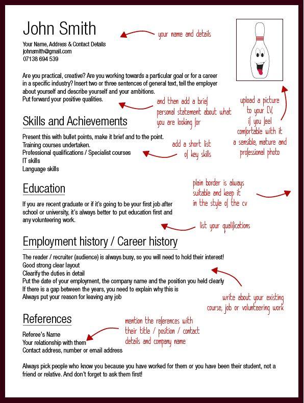 curriculum vitae template a guideline