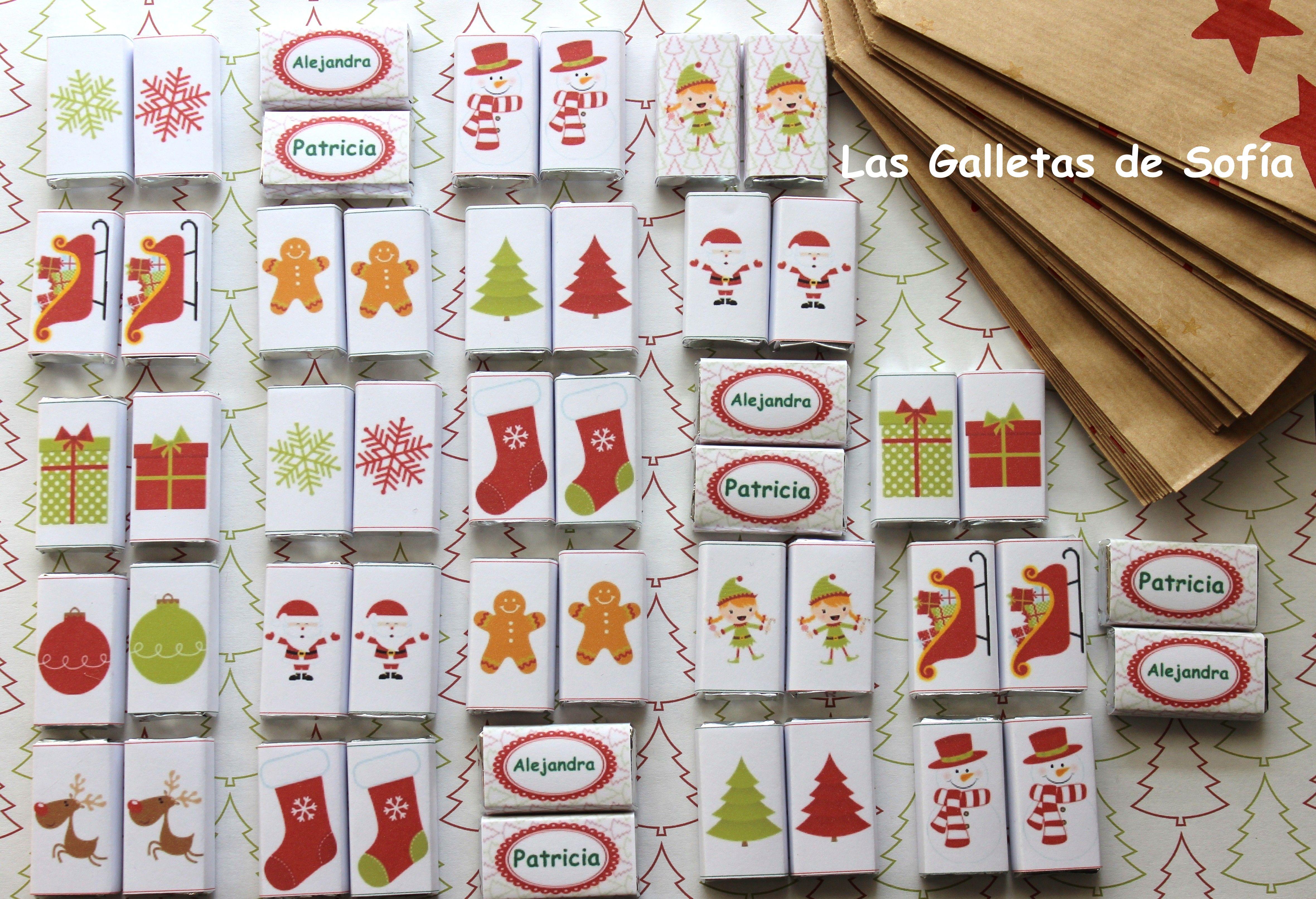 minichocolatinas para endulzar la Navidad! http://www.lasgalletasdesofia.blogspot.com