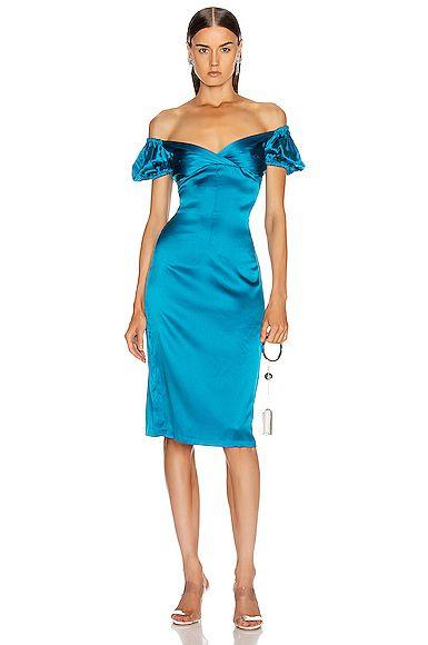 Alexis Cadiz Dress In 2020 Off Shoulder Cocktail Dress Dresses