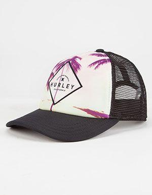hurley goldenwest womens trucker hat black hats